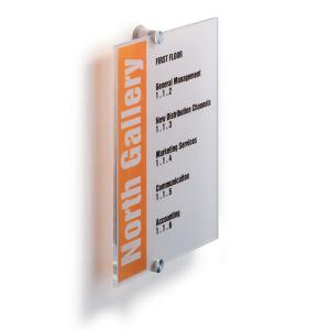 Табличка настенная DURABLE CRISTAL SIGN 210х297 мм, 4825/19, акриловое стекло