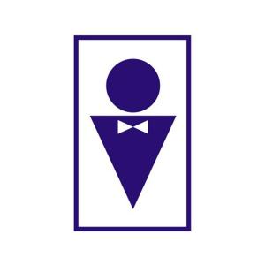 """Знак вспомогательный """"Туалет мужской"""" В37, 120х190мм, самоклеящийся"""
